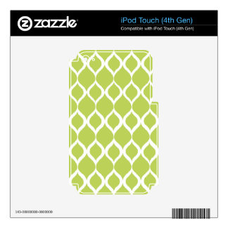 Lime Green Geometric Ikat Tribal Print Pattern iPod Touch 4G Decals