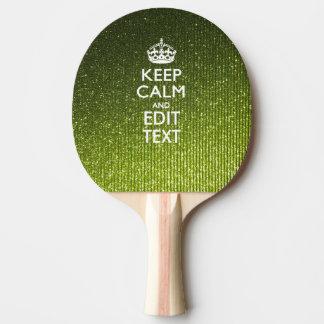 Lime Green Glamour Keep Calm Saying Ping Pong Paddle