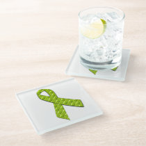 Lime Green Glass Coaster