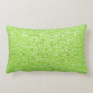Lime Green Glass Pillow