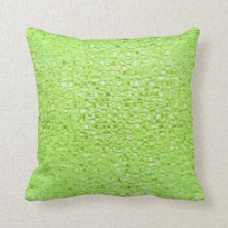 Lime Green Glass Pillow