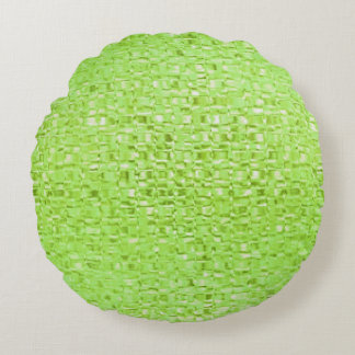 Lime Green Glass Round Pillow