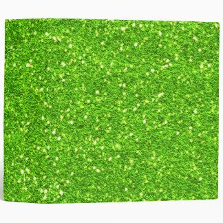 Lime Green Glitter Binder