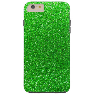 Lime green glitter tough iPhone 6 plus case