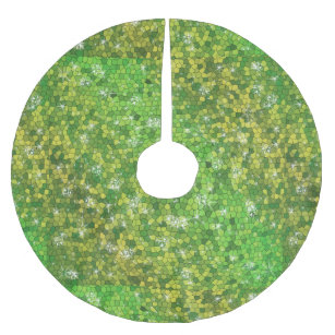 lime green glitter christmas magic sparkle brushed polyester tree skirt - Lime Green Christmas Tree