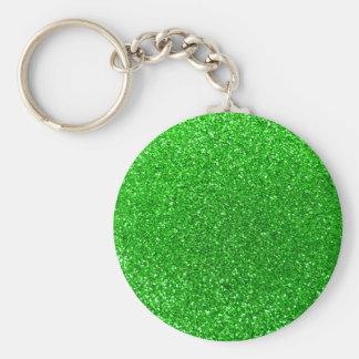 Lime green glitter keychain
