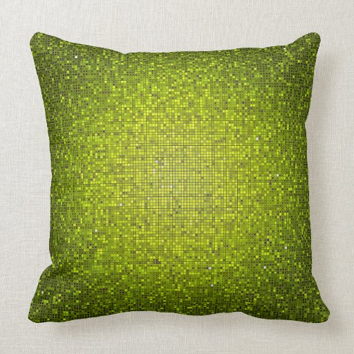 Green Couch With Throw Pillows : Lime Green Glitter Sequin Disco Couch Throw Pillow Zazzle