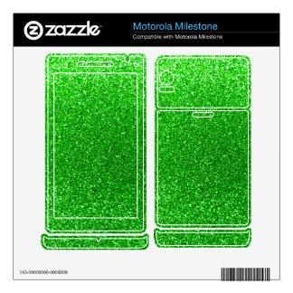 Lime green glitter motorola milestone decals