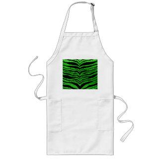 Lime green glitter tiger stripes aprons