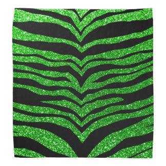 Lime green glitter tiger stripes bandana
