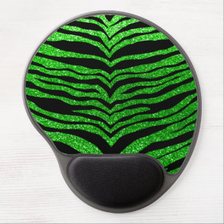 Lime green glitter tiger stripes gel mouse pad