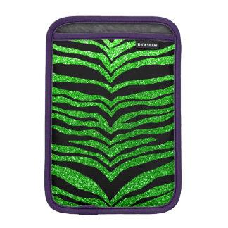 Lime green glitter tiger stripes iPad mini sleeves