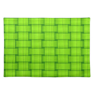 Lime green graphic design cloth placemat