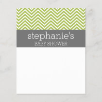 Lime Green & Gray Gender Neutral Baby Shower Suite