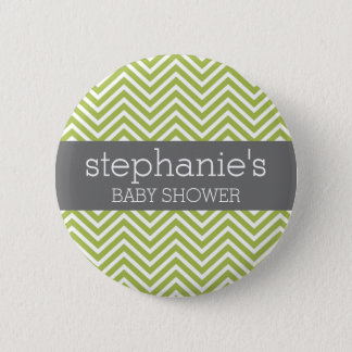 Lime Green & Gray Gender Neutral Baby Shower Suite Button