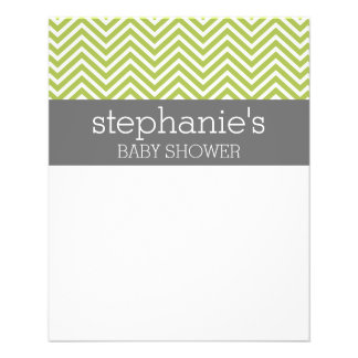 Lime Green & Gray Gender Neutral Baby Shower Suite Flyer