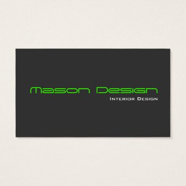 Professional Business Lime Green Gray Modern Minimalistic Business Card
