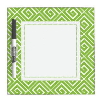 Lime Green Greek Spirals Dry Erase Dry Erase Whiteboards