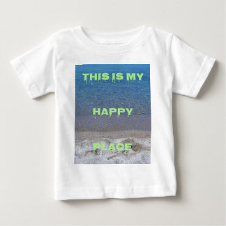 Lime Green Happy Place Phrase On Clear Lake Baby T-Shirt