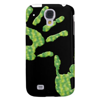Lime Green Heart Handprints iPhone3G Samsung Galaxy S4 Cases