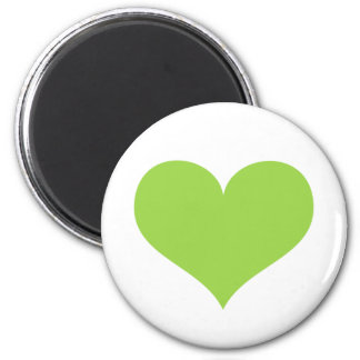 Lime green heart love or Valentines day Magnet