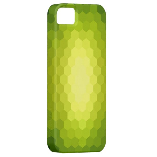 Lime green hexagonal seamless graphic iPhone SE/5/5s case