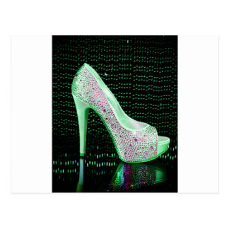 Lime Green High Heel Postcard
