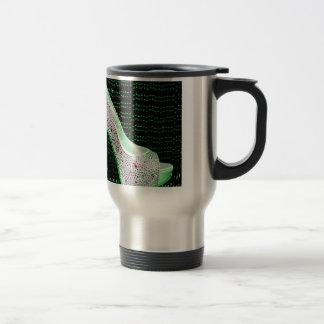 Lime Green High Heel Travel Mug