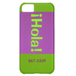 Lime Green ¡Hola! iPhone 5C Case