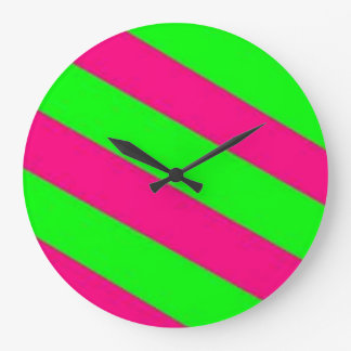 lime green-hot pink clock