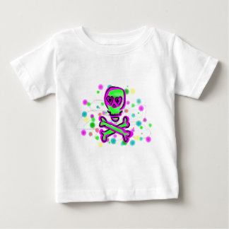 Lime Green Hot pInk Skull Colorful Cosmos Shirt