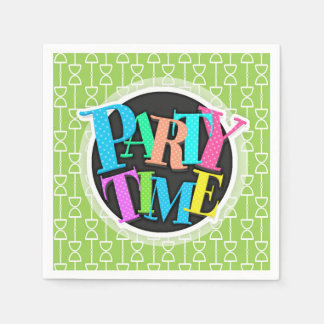 Lime Green Hourglass Pattern Paper Napkin