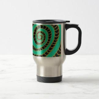Lime Green Inverted Spiral Travel Mug