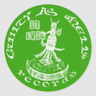 "LIME GREEN  ""It Evil"" Classic Round Sticker"