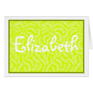 Lime Green Japanese Tropical Fans Card
