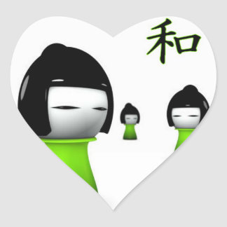 Lime Green Kanji Collection Stickers