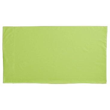 USA Themed Lime Green King Sized Single Pillowcase
