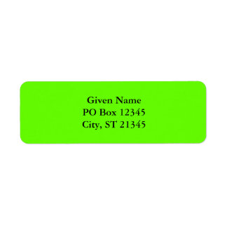 Lime Green Return Address Labels