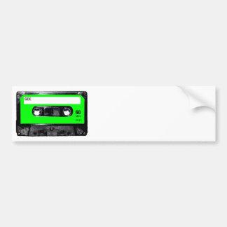 Lime Green Label Cassette Car Bumper Sticker