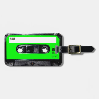 Lime Green Label Cassette Tags For Luggage