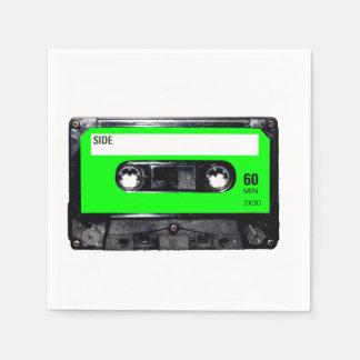 Lime Green Label Cassette Napkin