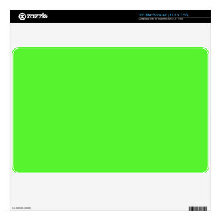 """Lime Green Laptop Cover 11"""" MacBook Air Decals"""