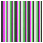 [ Thumbnail: Lime Green, Lavender, Fuchsia, and Black Colored Fabric ]