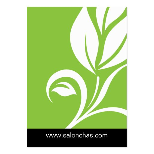 Lime green Leaf Salon Spa Gift Card Certificate Large Business Cards (Pack Of 100)