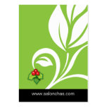 Lime green Leaf Salon Spa Gift Card Xmas Business Card Templates