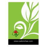 Lime green Leaf Salon Spa Gift Card Xmas Business Card Templates
