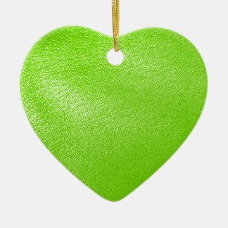Lime Green Leather Look (Faux) Ceramic Ornament