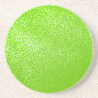 Lime Green Leather Look (Faux) Coaster