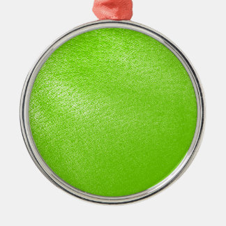 Lime Green Leather Look (Faux) Metal Ornament