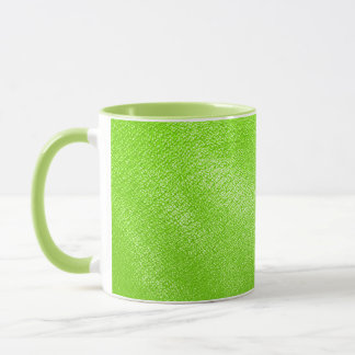 Lime Green Leather Look (Faux) Mug